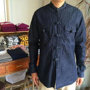 Needles Oriental Button Shirt - 6oz denim
