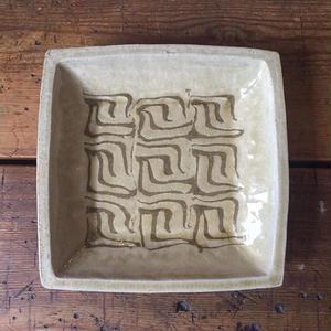 掛谷 康樹 練上手角盛鉢(7寸)