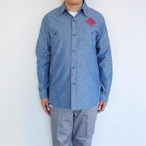 """OAXACA Chambray Shirts """"Cross Stitch"""""""