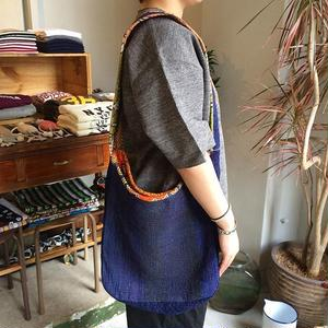 Slow Hands Indigo khanta embroidery shoulder bag 柄A
