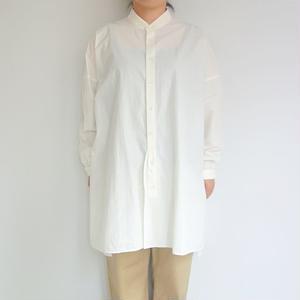FACTORY 高密度ブロード ワイドスリットシャツ タブ付き