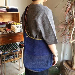 Slow Hands Indigo khanta embroidery shoulder bag 柄B