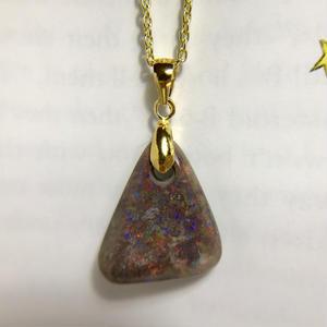 天然マトリックスオパールペンダント10.15ct☆オーストラリア・アンダムーカ産の原石から磨いた1点もの