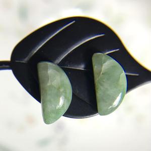 天然翡翠14kgfピアス☆ミャンマー産の原石から磨いた1点もの
