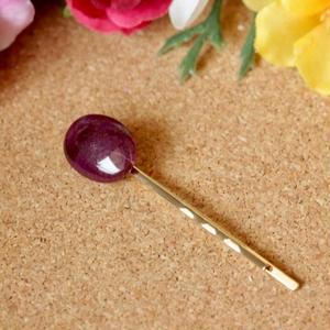天然スギライトヘアピン6.58ct☆ 原石から磨きました