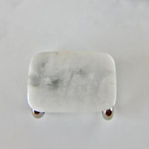 糸魚川産!天然翡翠の帯留め☆原石から磨きました