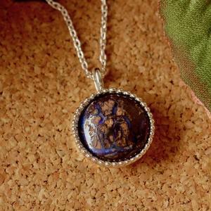 可愛い!天然ボルダーオパールシルバーネックレス7.26ct☆原石から磨きました