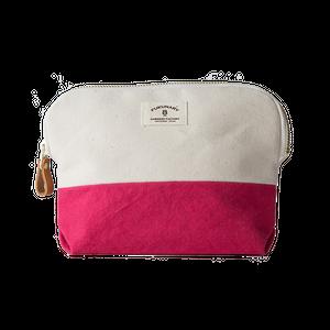 05 ポーチ 染色 ピンク