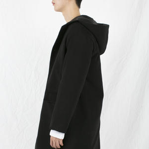 Black hoody single coat
