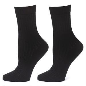 【ES2-WSK-BLK-1S】2足組 PACT(パクト レディース)-WOMEN'S-EVERYDAY CREW SOCKS-BLACK 2-PACK-オーガニックコットン クルーソックス