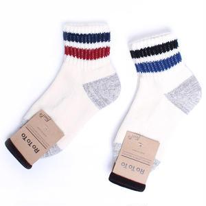 Rototo/ロトト【R1020】LINE SHORT SOCKS コットン ライン ショート ソックス 靴下-レディース 日本製