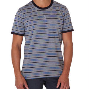 PACT/パクト【S13-MSC-GRS】メンズ Tシャツ MEN'S-CREW NECK-GRAVEL STRIPE