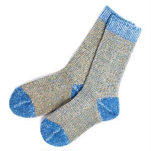 【R1009-BLU】RoToTo/ロトト 日本製 靴下 ローゲージ リブ ソックス MIXED C.L.S LOWGAUGE RIB SOCKS