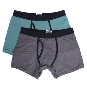 【EA2-MBB-CHP】PACT(パクト)2枚組 MEN'S-BOXER BRIEF 2P-CHARCOAL HEATHER/PINE