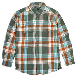 WOOLRICH(ウールリッチ)【6111-PUB】-L/S SHIRT-MNS OXBOW BEND FLNNL-GREEN/SKY BLUE
