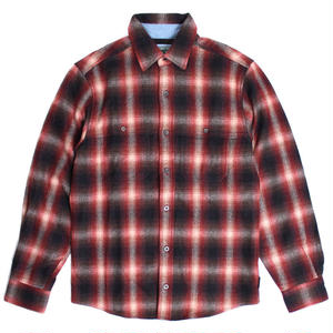 WOOLRICH(ウールリッチ)【6132-RB4】-L/S SHIRT-MNS NORTHCREEK SHIRT-RED BLACK OMBRE