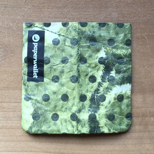 【POU013PCA】paperwallet/ペーパーウォレット-MAGIC COIN POUCH-POLKACTUS タイベック® Tyvek® 紙の財布