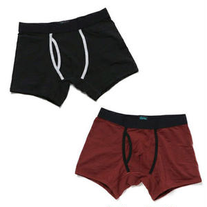 【EA2-MBB-BRW】PACT(パクト)2枚組 MEN'S-BOXER BRIEF 2P-BLACK /RED WOOD