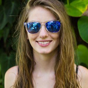 SUNSKI/サンスキー【SUN-OR-BL】Originals Sunglasses Clear/Blue オリジナル・サングラス 偏光レンズ ミラーレンズ仕様 蛍光色 クリア/ブルー