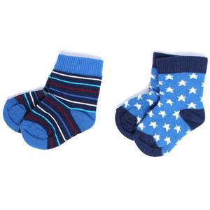 【SFA-BSK-SS2】PACT(パクト)ベビー オーガニックコットン 靴下 2足セット BOY'S-BABY SOCK-SUPERSTAR TWO-PACK