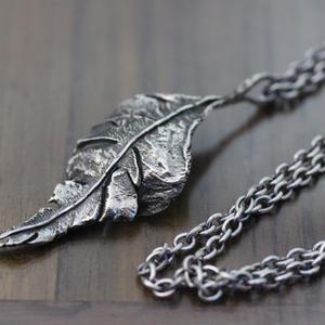 Crack Leaf Necklace(SV)