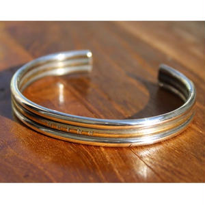 Banding  Bangle(Narrow)#plain SILver×BRASS