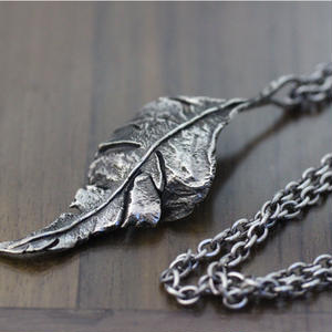 Crack Leaf Necklace(SV)