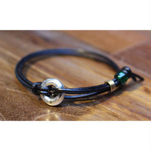 Portion Bracelet(BLK Leather)