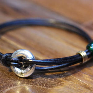 Portion Bracelet(BLK Leather)