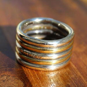 Banding Ring(SV×BRASS)#Plain