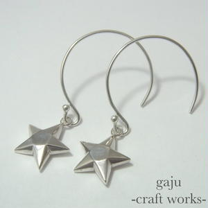 cut stone pierced earrings / star cut