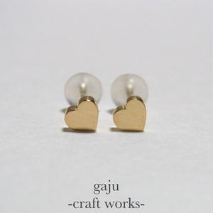 petite heart pierced earring (K18 gold)