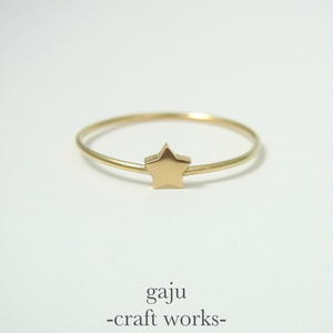 gold wire ring / star