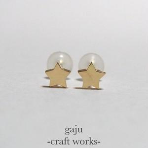 petite star pierced earring (K18 gold)