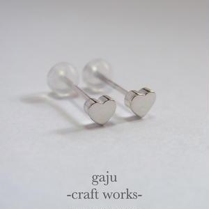 petite heart pierced earring
