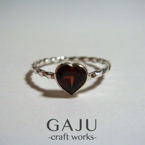Heart Gem Twist ring ver.garnet
