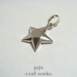 cut stone pendant / star cut