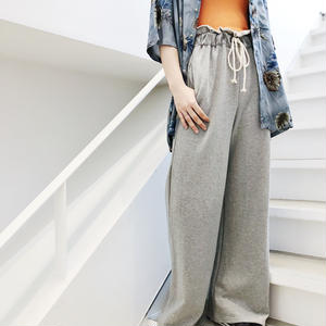 SWEAT HIGH WAIST WIDE PANTS