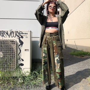 REMAKE MILITARY WIDE PANTS