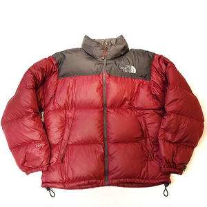 【 THE NORTH FACE 】USED DOWN -BURGUNDY-
