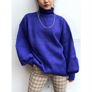【再入荷】COLOR HI-NECK KNIT
