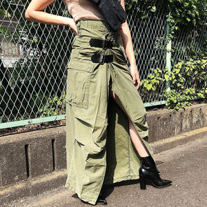 REMAKE MILITARY WRAP  SKIRT