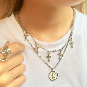 SET COIN CROSS NECLACE