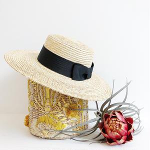 WIDE RIBON  KANKAN  HAT