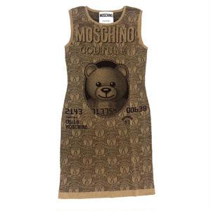 【Used MOSCHINO】Jeremy Scott TEDDY BEAR KNIT DRESS