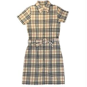 【USED BURBERRY】CHECK SHIRTS DRESS