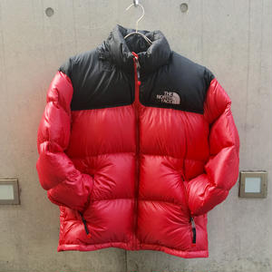 【THE NORTH FACE】USED DOWN_BLACK/RED