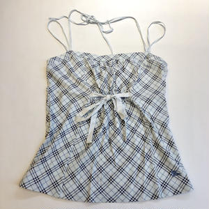 【USED】BURBERRY CHECK CAMI