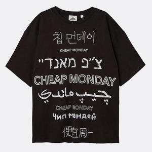 【 CHEAP MONDAY 】MEGA LANGUAGE LOGO TEE