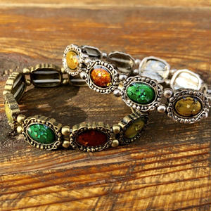 【ANTIQUE LIKE】CIRCLE STONE BRACELET